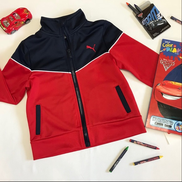 5cf4570a2c3b Puma Zip-up Toddler Jacket In Navy   Red